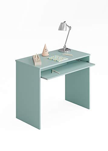 Esidra Scrivania Porta PC-Laminato Verde Acqua, 79 x 90 x 54 cm
