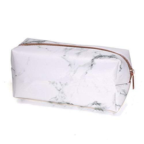 Marble Makeup Bag Portable Cosmetic Bag Travel Storage Bags with Gold Zipper Pencil Storage Case for Women Makeup Brush Bag 6