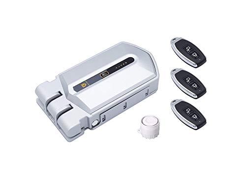 Golden Shield Alarm - Cerradura Invisible con alarma 120db, 3 mandos incopiables