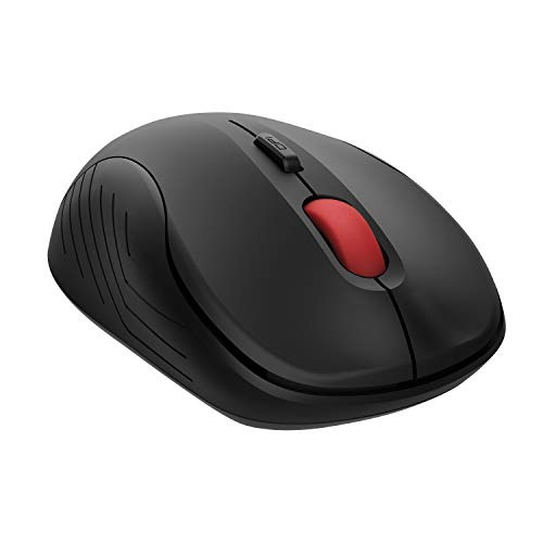 Computer Wireless Mouse, 2.4G Noiseless Mouse with USB Receiver, Cordless Mouse for Laptop Notebook PC with Windows System (Black)