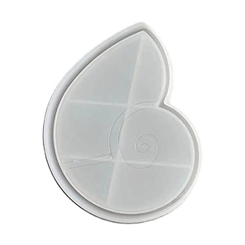 SHURROW Bandeja de Concha de Concha Molde de Resina epoxi Manualidades de Bricolaje Placa de Tabla de Servir Molde de Silicona Bandeja para Hornear 3