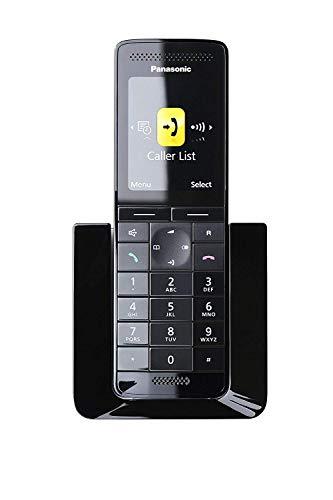 Panasonic KX-PRS120JTW Telefono Cordless Digitale (DECT) Singolo Premium Range con Segreteria telefonica, Bianco/Nero