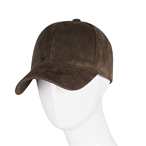 siqiwl Sombrero para el Sol Mujer Moda Gorra de béisbol Mujeres Gorra Calle Hip Hop Caps Sombreros de Gamuza para Damas Gorra de béisbol Gris Negro (Color : Army Green)