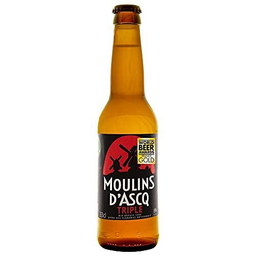 Moulins d'Ascq Cerveza Bioecológica Orgánica Artesanal Tipo Triple - 33 cl.