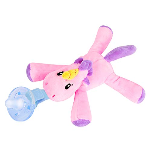 Unicorn Pacifier Baby Toys Detachable Safe Soothing Super-Soft Hospital-Grade