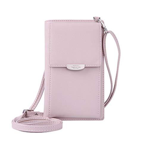 BiaBai Cartera de mujer a la moda, bolso de hombro, monedero de cuero PU, bolso de teléfono móvil, Mini bandolera cruzada, bolso de viaje informal