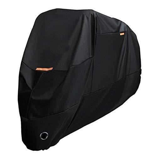 Cubierta Negra de la Motocicleta Cubierta de Motocicleta Protector de Motocicleta a Prueba de Viento a Prueba de Polvo a Prueba de Agua Impermeable Impermeable para Todas Las Temporadas