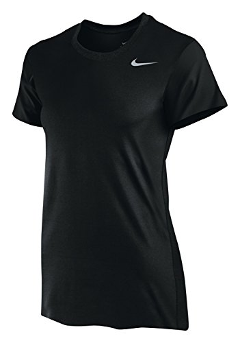 Nike Women's Dri-Fit Legend Short Sleeve T-Shirt, Black/Cool Grey, Medium