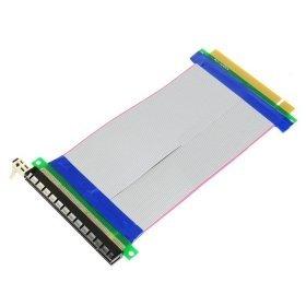 PCI-E Express 16X bis 16x Stecker zu weibliche Riser Extender Karte Bandkabel 20cm