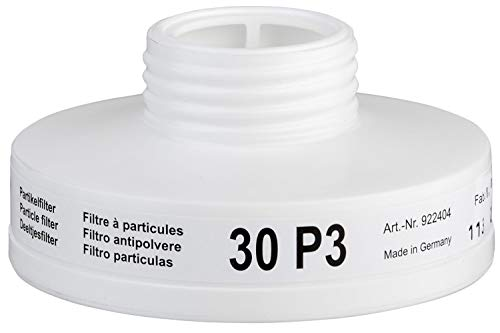 BartelsRieger Partikelfilter P3 R I Schraubfilter für Rundgewinde I Atemschutz gegen Partikel & Aerosole I Ersatzfilter für Voll- und Halbmasken I Abscheideleistung > 99,95% I 2 Stück