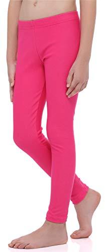 Merry Style Mädchen Lange Leggings aus Baumwolle MS10-251 (Rosa, 140 cm)