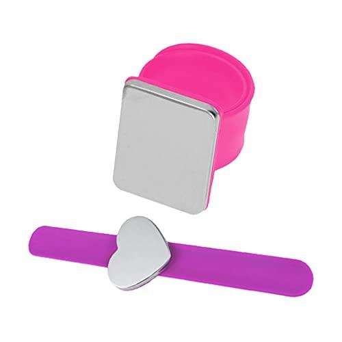 Angoily 2 Piezas de Almohadón Magnético para Muñeca Alfiler de Costura Magnético Alfiler para Muñeca Cojín para Muñeca Muñequera Almohadón Magnético Pulseras Magnéticas de Silicona