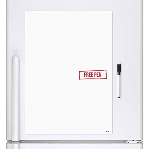 CKB Ltd® Blank Droog Afvegen Magnetisch Whiteboard Koelkast Board Magneet Signage Sheet met Marker Wit Board & Pen - Drywipe Keuken Memo Notice Board Grote Dagelijkse Planner