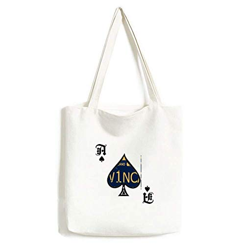 Nummernschild USA amerikanische Auto Nummernschild Handtasche Craft Poker Spaten waschbare Tasche