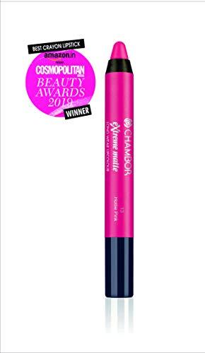 Chambor Extreme Matte Long Wear Lip Colour, Hottie Pink #13, 2 g