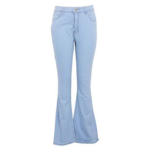 H.eternal(TM) Jeans ajustados para mujer, pantalones vaqueros de corte de bota, pantalones vaqueros de cintura alta, elásticos, pantalones vaqueros rasgados