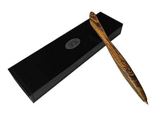 Edler Design Kugelschreiber aus Edel-Holz im Etui I Premium: 100% Hand-Made in Germany I Jeder Stift ein Unikat I Exklusiver Holzkugelschreiber perfekt als Geschenk-Idee