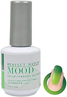 Perfect Match Mood Gel Polish changes color light to dark made in USA