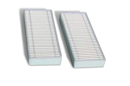 Compatible Replacement HEPA Filters for Coredy R300 Robot Vacuum Cleaner (White, 2-Pack) by DAK