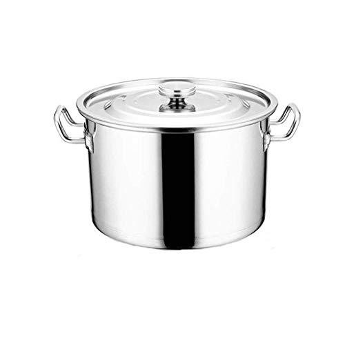 Roestvrij staal Stock Pot met Deksel, Extra dikke soep Pot Hotel Commercial grote capaciteit Soup Bucket Gas Inductieoven Universal HRSS