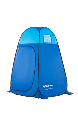 KingCamp Shower Tent Toilet Tent Dressing Room with Carrying Bag for Camping Outdoor(Blue)