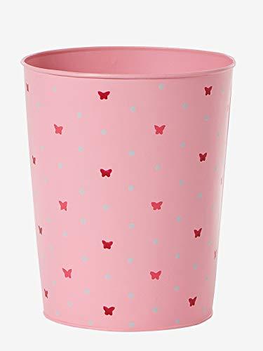 Vertbaudet Papierkorb für Kinderzimmer, Mülleimer rosa ONE Size