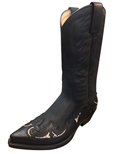 Sendra Cowboystiefel 3242 in schwarz incl. Roy Dunn´s Lederfett (40)