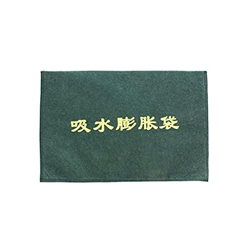 40x60cm Water Absorbent Flood Barrier Durable for Doors and Windows Waterproof Treatment in Rainy Season, Hurricanes Army Green Pack of 50