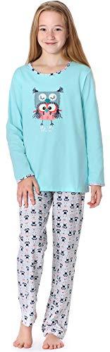Timone Mädchen und Jugendlicher Schlafanzug 210 (Türkis, 152)