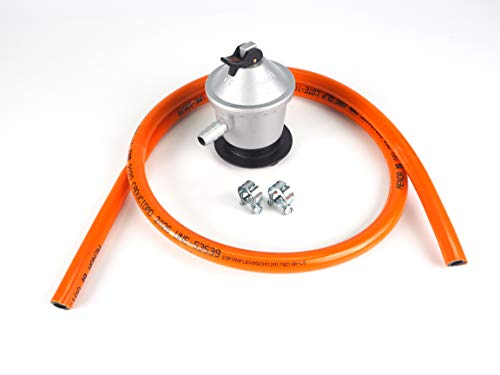 Kit regulador de gas butano + goma 1