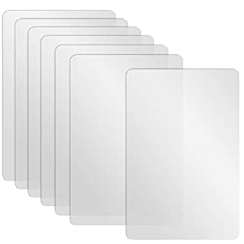 Neworkg 7 Pcs Plastic Placemats Matte Transparent Heat Resistant Washable Table Mats for Table Dining Kitchen 17 x 11 Inches