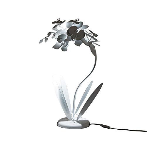 ARTI E MESTIERI ORCHIDEA LAMPADA DA TAVOLO BIANCO MODERNA DESIGN ORIGINALE