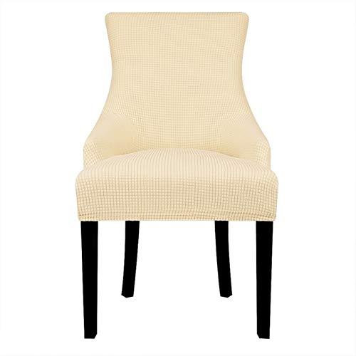 Chair cover Samt Stoff Abfallarm Stuhlabdeckung Große Größe XL Größe Flügel Bakc König Rückstuhlabdeckungen Sitzbezüge für Hotel Party Bankett Casual ( Color : Cream , Specification : Universal Size )
