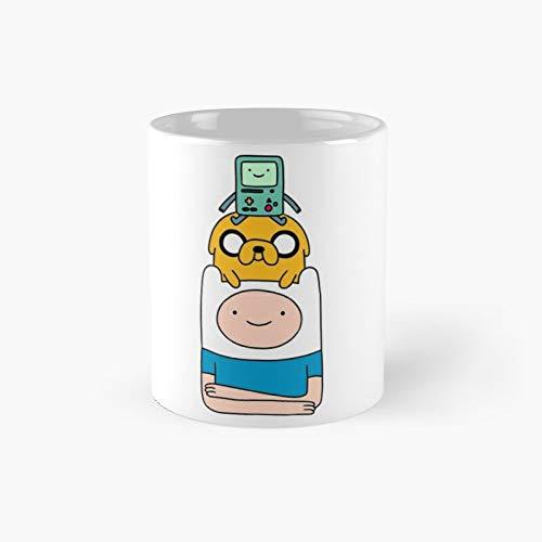 BMO Finn and Jake Adventure Time Characters Taza clásica   El mejor regalo divertidas tazas de café de 325 ml