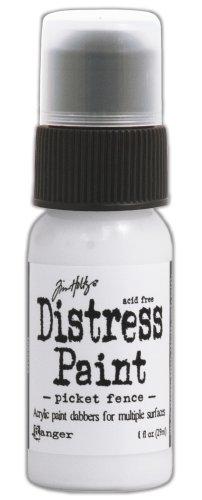Ranger Tim Holtz Distress Paint Bottle, 1-Ounce, Picket Fence