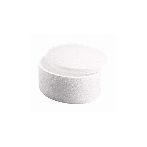 Rayher 3322800 piepschuim doos, 2-delig, rond, 150x90 mm