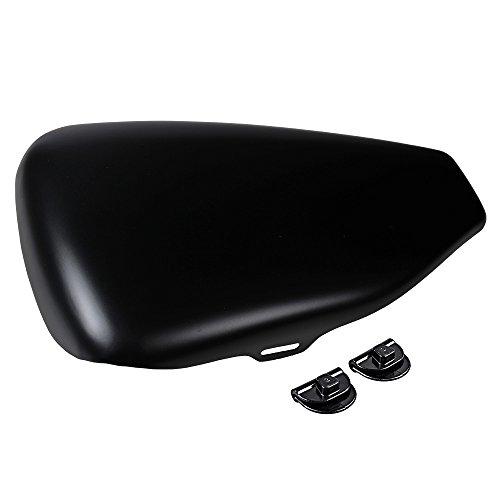 Black Left Side Battery Cover Compatible with 14-20 Harley Sportster 883 1200 48 72 Models (Matte)