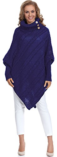 Merry Style Poncho Ropa Mujer C46l4 (Azul Oscuro, One size)
