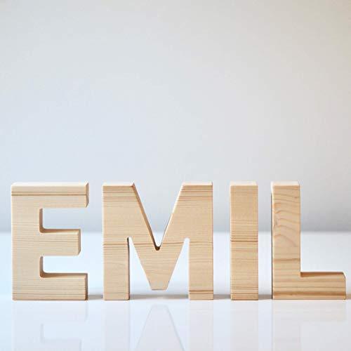 Holzbuchstaben 10cm Höhe aus Fichte - Buchstaben aus Holz I Hochzeitsgeschenk, Tischdeko, Holzdeko, Deko für das Kinderzimmer