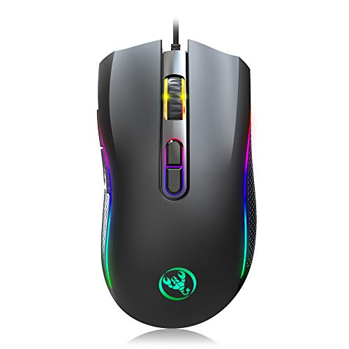 Maxesla Gaming Mouse Wired, Ergonomic Mouse High Performance, USB Wired...