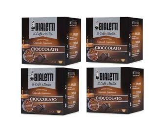 Bialetti caffè d\'Italia gusto CIOCCOLATO 4 scatole da 12 capsule