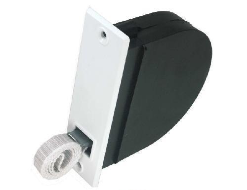 Rolladen Einlaßwickler mit 14 mm Mini - Gurtband grau Gurtwickler Unterputz