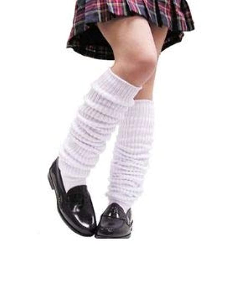世論調査スロープエンターテインメントルーズソックス 150cm ストッキング 靴下 高校生 ギャル 仮装 女子高生 コスプレ 制服小物 白 無地