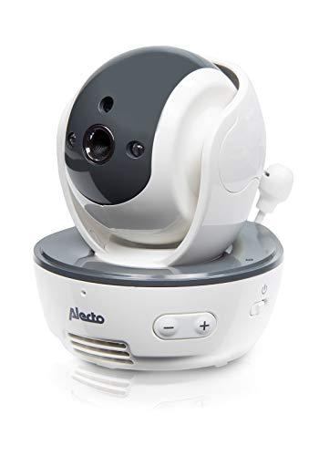 Alecto DVM-201 Alecto DVM-201 extra camera voor Alecto DVM-200 draadloze babyfoon met bestuurbare camera, nachtzicht, hoog bereik tot 300 meter, wit
