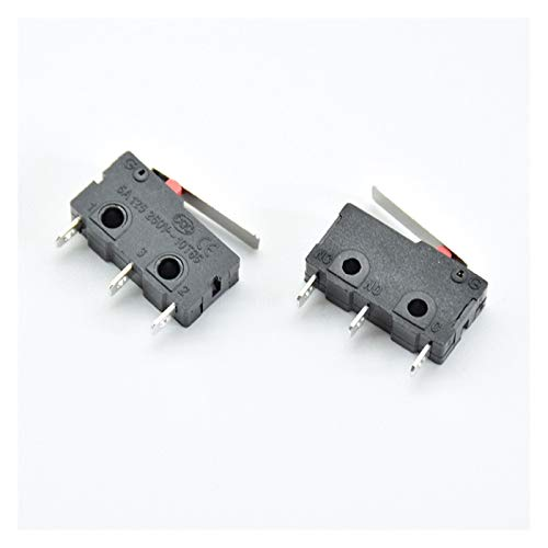 YSQSPWS condensadores electrolíticos 5pcs Mini Micro Límite Interruptor No NC 3 Pin PLIN TERMINALES PCB SPDT 5A 125V 250 V Palanca de Rodillos Antiguo ACCIÓN MICROSWITCHES Suministros de Bricolaje