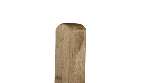 MEIN GARTEN VERSAND Zaunpfosten/Holzpfähle mit Rundkopf 9 x 9 x 110 cm allseitig gehobelt aus Kiefer, druckimprägniert