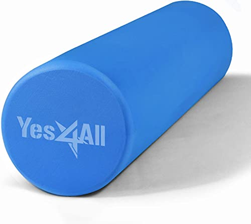 Yes4All 18 Inch EVA Foam Roller/Back Roller – High Density Foam Rollers, Foam Roller for Physical Therapy & Exercise (Blue)