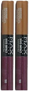 Max Factor Vivid Impact Eyeshadow Duo 100 BRASSY BERRY by MAXFACTOR (PACK OF 2 Tubes)