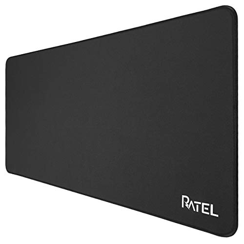 Larger Gaming Mouse Pad, RATEL Extended Mousepad, Premium-Textured Mouse Mat with Stitched Edges & Non-Slip Base, Water Resist Desk Pad, Keyboard Mat for Work & Gaming