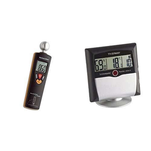 TFA Dostmann Humidcheck Contact, Materialfeuchtemessgerät, 30.5503 & Comfort Control digitales Thermo-Hygrometer, 30.5011, mit Schimmelalarm, Raumklimakontrolle, Überwachung der Luftfeuchtigkeit